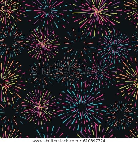 Colored pyrotechnics pattern Stock photo © netkov1