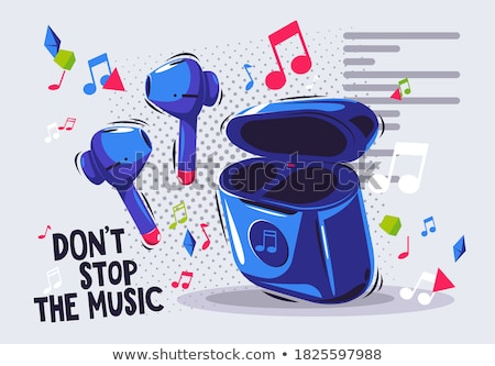 luisteren · audio · draadloze · hoofdtelefoon · vector - stockfoto © pikepicture