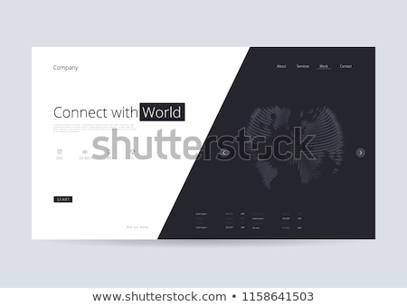 virtual world development concept landing page stock photo © rastudio