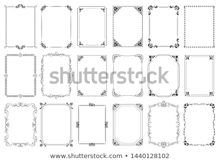 Calligraphic frame set. Borders corners ornate frames. Vector Stock photo © Andrei_
