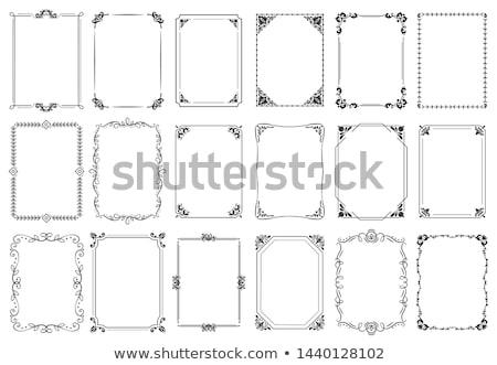 vecteur · coin · dessins · design - photo stock © andrei_