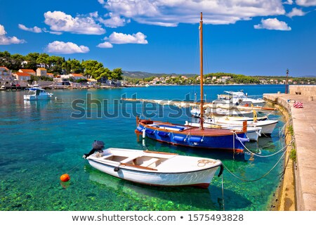lumbarda on island korcula turquoise waterfront view stock photo © xbrchx