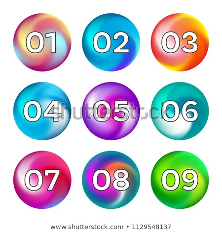Rainbow ball like buttons collection on white Stock photo © blumer1979