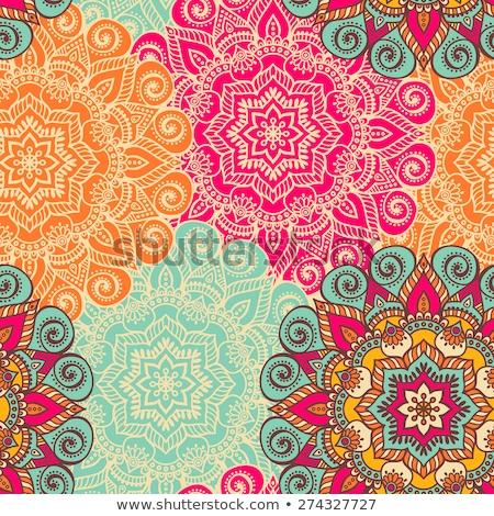 Mandala padrão projeto branco ilustração fundo Foto stock © bluering