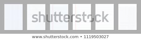 Levha kâğıt kafes defter yalıtılmış beyaz Stok fotoğraf © kup1984