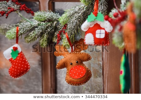 Christmas deer made of felt Stock photo © furmanphoto