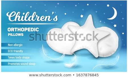 Pillow In Star Form For Comfortable Sleep Vector Stock photo © pikepicture