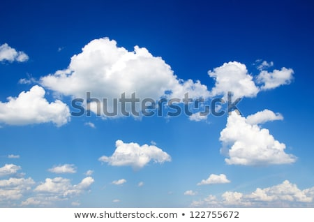 blue sky with clouds closeup Stock photo © OleksandrO