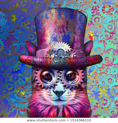 Steampunk Cat Psychedelic Art Stock photo © Lightsource