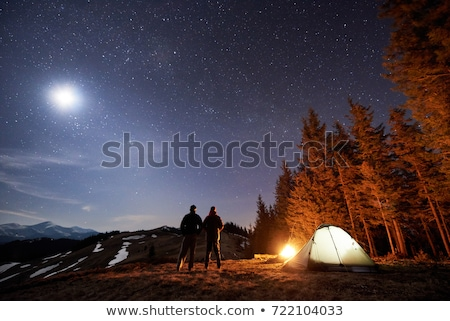 camping in the mountains under the stars stock photo © solarseven