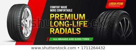 Voiture Ouvrir la bannière horizontal réparation de voiture Photo stock © -TAlex-