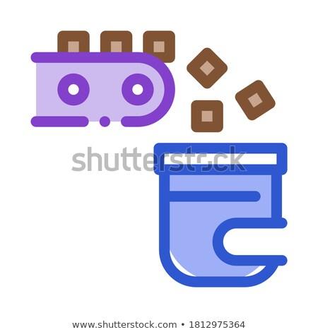 Fabrik Produktion Symbol Vektor dünne line Stock foto © pikepicture