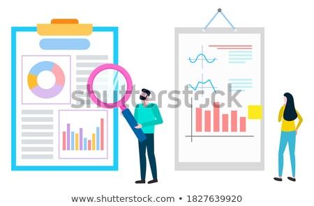 Courtier agent ventes vecteur personne Photo stock © robuart