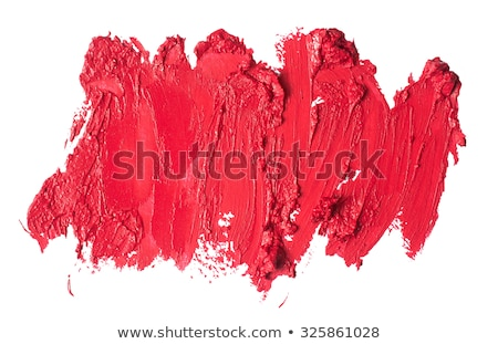 Eyeshadow palette and make-up brush on cherry background, eye sh Stock photo © Anneleven