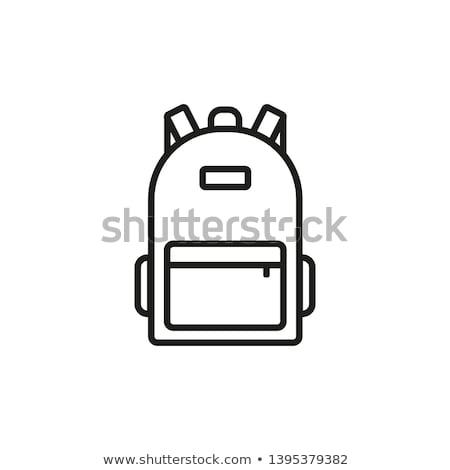 Rugzak icon vector schets illustratie teken Stockfoto © pikepicture
