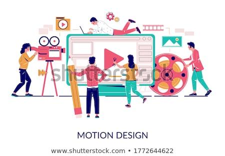 Computer animation concept vector illustration Stock photo © RAStudio