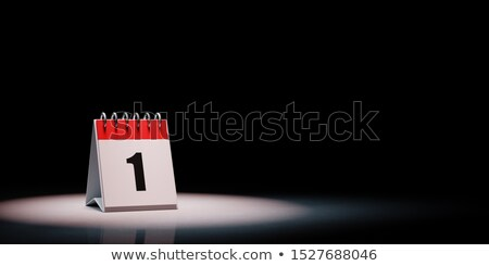 Calendario negro día rojo blanco escritorio Foto stock © make