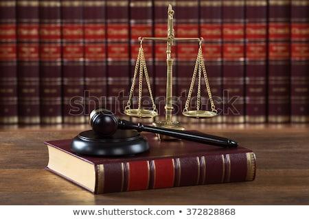 Juridiques livre justice échelle table Photo stock © AndreyPopov