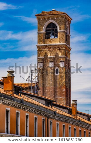 Bell tower of Church of San Giovanni Elemosinario in Venice, Ita Stock photo © boggy