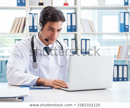 The young male doctor in telemedicine concept  Stock photo © Elnur