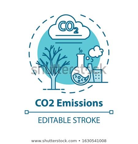 Kibocsátás vektor metafora stop levegő szennyezés Stock fotó © RAStudio