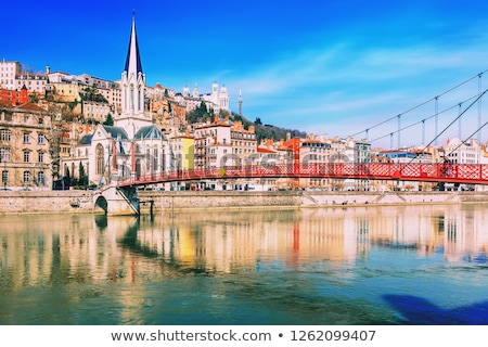 Lyon, France in a beautiful summer day Stock photo © neirfy