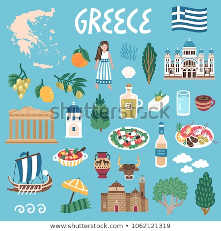 Grecja kraju historii kolekcja wektora Zdjęcia stock © pikepicture