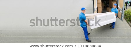Delivery Truck Movers Moving Furniture Stock photo © AndreyPopov