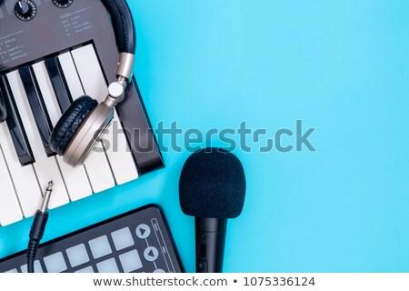 музыкальные инструменты барабан музыку колонки кассету Сток-фото © jossdiim