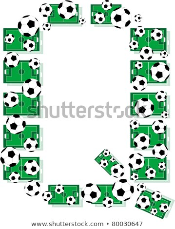 Q Alphabet Football Letters Made Of Soccer Balls And Fields Stock fotó © fotoscool