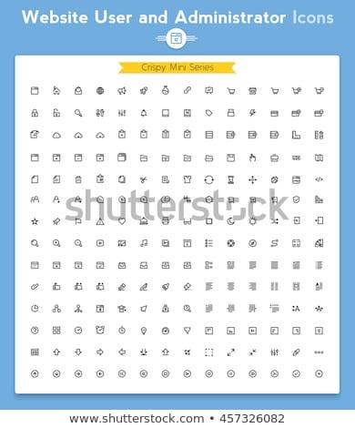 форуме интерфейс вектора иконки веб Сток-фото © ayaxmr