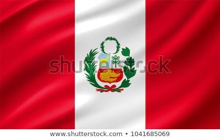 Peru flag, vector illustration on a white background Stock photo © butenkow