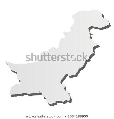 Pakistan land kaart eenvoudige zwarte silhouet Stockfoto © evgeny89