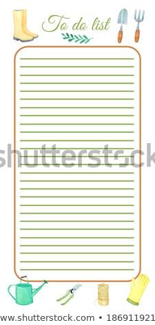 ガーデニング リストを行うには 先頭 表示 スペース ツール ストックフォト © grafvision
