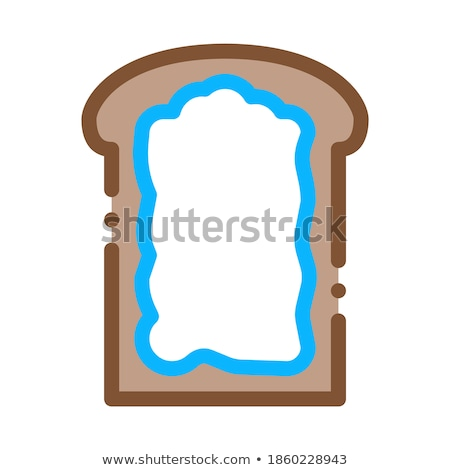 toast with mayonnaise icon vector outline illustration Stock photo © pikepicture