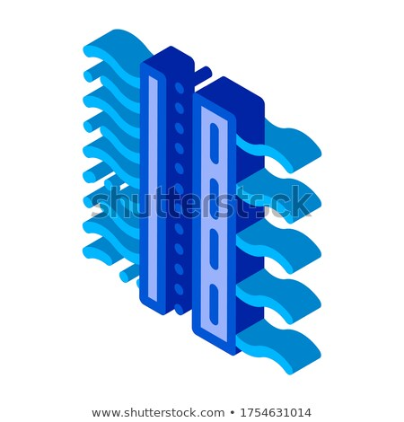 Liquid Drop With Germ Water Treatment isometric icon vector illustration Stock photo © pikepicture