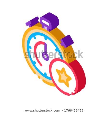 ボーナス ストップウオッチ アイソメトリック アイコン ベクトル にログイン ストックフォト © pikepicture