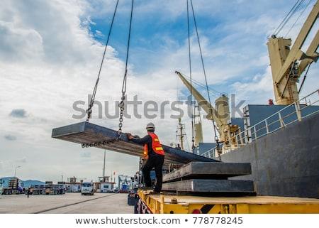 Staal laden klaar industriële pijp Stockfoto © morrbyte