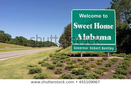 Welcome Road Sign Stock photo © kbuntu