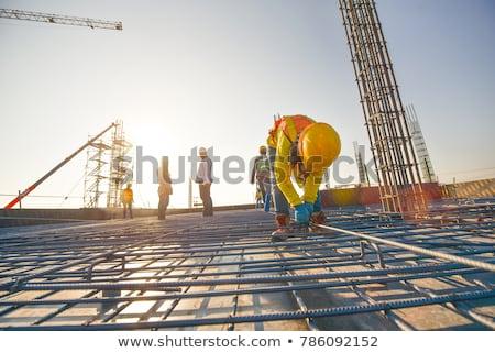Reinforcing steel in construction site Stock photo © deyangeorgiev