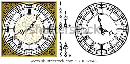 Torony óra részlet templom Prága építkezés Stock fotó © CaptureLight