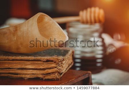 яблоки меда традиционный фрукты белый Сток-фото © klsbear