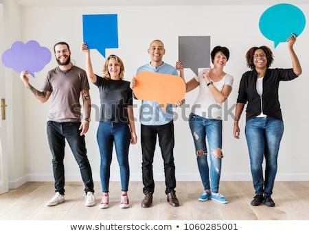 Social networking people with speech bubbles Stock photo © 4designersart