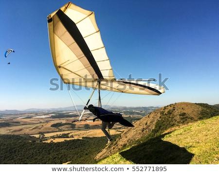 Blauw bergen Australië landschap gratis parachute Stockfoto © Alvinge