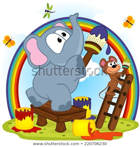 cartoon animals represent Stock photo © romvo