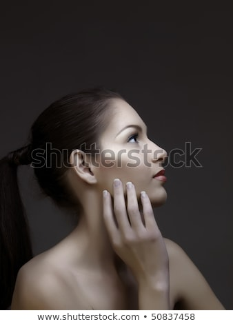 closeup of a woman and her french manicure stock photo © photography33