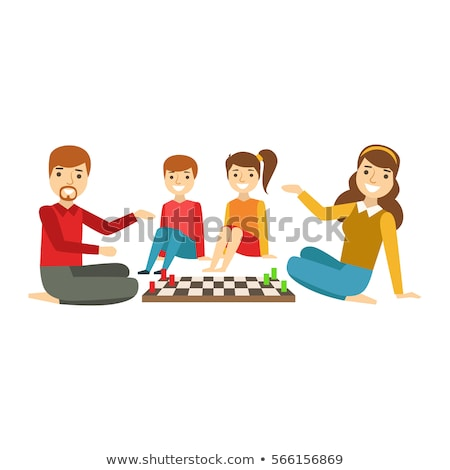 agradable · juego · ajedrez · ninos · jugando · sesión · mesa - foto stock © photography33