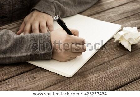 Woman Pen Writers block Stock photo © lovleah