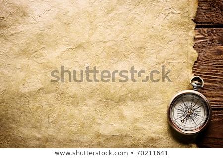 kompas · oude · kaart · papier · kaart - stockfoto © JanPietruszka