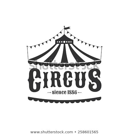 cirkusz · illusztráció · rajz · kék · ég · nyár · zászló - stock fotó © winner